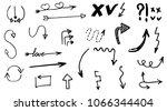 doodle hand drawn vector arrows ... | Shutterstock .eps vector #1066344404