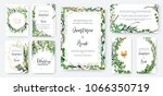 wedding invitation frame set ... | Shutterstock .eps vector #1066350719