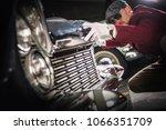 classic car collector...   Shutterstock . vector #1066351709