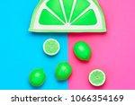 lemon citrus fruit. fashion... | Shutterstock . vector #1066354169