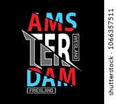 amsterdam typography t shirt...   Shutterstock .eps vector #1066357511