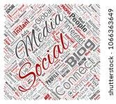 vector conceptual social media... | Shutterstock .eps vector #1066363649