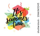 design print for summer season. ... | Shutterstock .eps vector #1066365245
