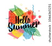 design print for summer season. ... | Shutterstock .eps vector #1066365251