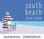 south beach miami forida   Shutterstock .eps vector #1066365614