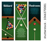 billiards sport club and pool... | Shutterstock .eps vector #1066370081