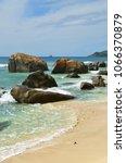 beautiful tropical  beach on... | Shutterstock . vector #1066370879