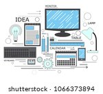 power of knowledge  learning... | Shutterstock . vector #1066373894