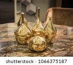 four beautiful glossy golden... | Shutterstock . vector #1066375187