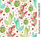 seamless pattern with... | Shutterstock . vector #1066381859