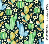 seamless pattern with... | Shutterstock . vector #1066381907