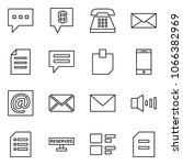 flat vector icon set   message... | Shutterstock .eps vector #1066382969