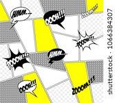 comic book art. vector... | Shutterstock .eps vector #1066384307