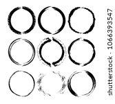 set of black round grunge... | Shutterstock .eps vector #1066393547