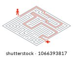 pass way intricacy labyrinth... | Shutterstock .eps vector #1066393817