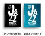 jazz music poster design... | Shutterstock .eps vector #1066395545