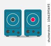 musical stereo speakers vector... | Shutterstock .eps vector #1066395695