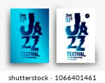 jazz music poster design... | Shutterstock .eps vector #1066401461