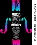 poster idea for music event ... | Shutterstock .eps vector #1066401491
