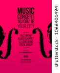 poster idea for music event ... | Shutterstock .eps vector #1066401494