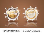 set of deluxe design labels in... | Shutterstock .eps vector #1066402631