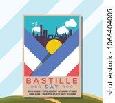 cityscape poster bastille day... | Shutterstock .eps vector #1066404005