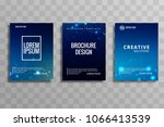 abstract blue colorful business ... | Shutterstock .eps vector #1066413539