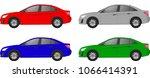set of realistic sedan car ... | Shutterstock .eps vector #1066414391