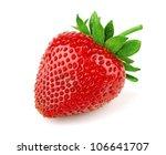 Fresh Sweet Strawberry Isolated ...
