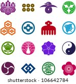 japanese family crest | Shutterstock .eps vector #106642784