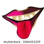 lips beauty vector | Shutterstock .eps vector #1066431329