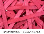 abstract chaotic red background ... | Shutterstock . vector #1066442765