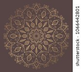 mandala vector design element.... | Shutterstock .eps vector #1066442801