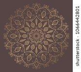 mandala vector design element.... | Shutterstock .eps vector #1066442801