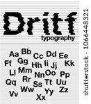 ripple typography design vector | Shutterstock .eps vector #1066448321