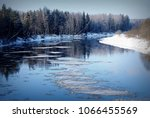 river in wintertime | Shutterstock . vector #1066455569