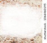 old plaster brick wall texture...   Shutterstock . vector #1066460195