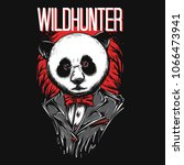 wild hunter illustration | Shutterstock .eps vector #1066473941
