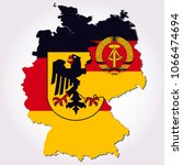 east germany   west germany... | Shutterstock .eps vector #1066474694