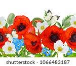 horizontal floral seamless... | Shutterstock . vector #1066483187
