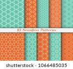 seamless pattern set in arabic... | Shutterstock .eps vector #1066485035