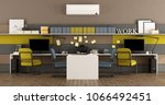 modern office with two... | Shutterstock . vector #1066492451