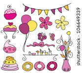 16 sets of party items for... | Shutterstock .eps vector #106649339