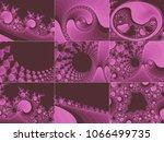 pink abstract fractal... | Shutterstock . vector #1066499735