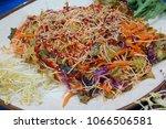 buckwheat noodles  mak guksu    ... | Shutterstock . vector #1066506581