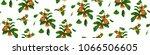 pomegranate branch seamless...   Shutterstock .eps vector #1066506605