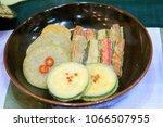 various vegetables pancake  ... | Shutterstock . vector #1066507955