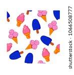 ice cream pattern. concept... | Shutterstock .eps vector #1066508777
