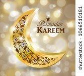 ramadan greetings vector | Shutterstock .eps vector #1066510181