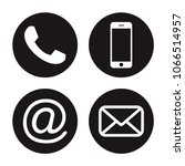 contact icons. communication... | Shutterstock .eps vector #1066514957